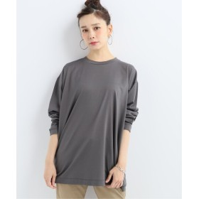 journal standard luxe 【ATON/エイトン】 OVERSIZED L/S T-SHIRT グレー 2