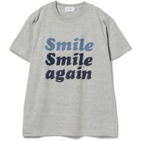 【50%OFF】 ビームス アウトレット BEAMS / スマイルロゴ プリント Tシャツ メンズ GREY S 【BEAMS OUTLET】 【セール開催中】