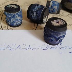 フランスアンティーク 刺繍用スタンプ