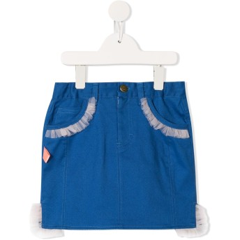 Spilow フリル デニムスカート - ブルー