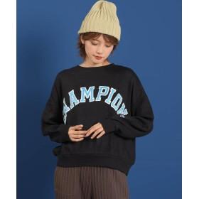 リップスター ≪Champion≫チャンピオン CP CREW NECK SWEATSHIT レディース ブラック M 【LIPSTAR】