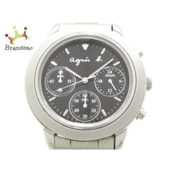アニエスベー agnes b 腕時計 - V654-6100 メンズ 黒       スペシャル特価 20200113