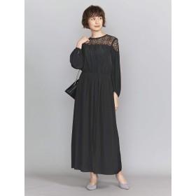 (ビューティ&ユース ユナイテッドアローズ) BY DRESS デシン×レース 6分袖ドレスо 16261623612 0950 BLACK(09) M