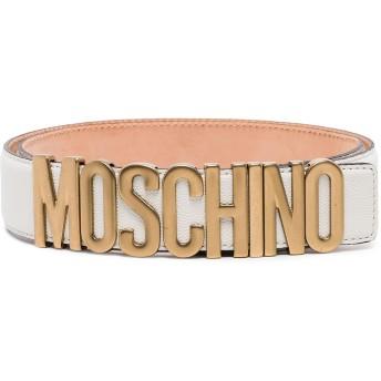 Moschino ロゴ レザーベルト - ホワイト
