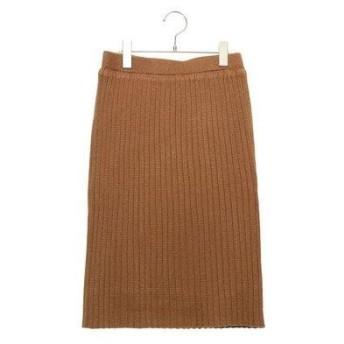 テチチ テラス アウトレット Te chichi TERRASSE outlet ワイドリブタイトスカート (キャメル)
