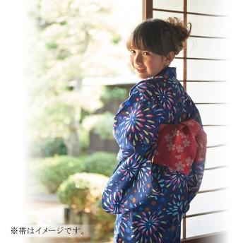 ミキハウス 花火柄浴衣(女児用) 紺