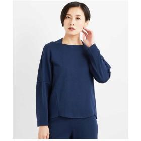 GEORGES RECH 【洗える】ストレッチジャージートップス Tシャツ・カットソー,ブルー
