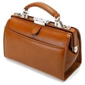 SADDLE 日本製 豊岡製鞄 ミニダレスバッグ 牛革 本革 ワンタッチ錠前 レトロ 高級感 22324 (チョコ)