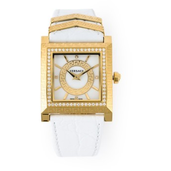 Versace ダイヤ装飾 腕時計 - ホワイト