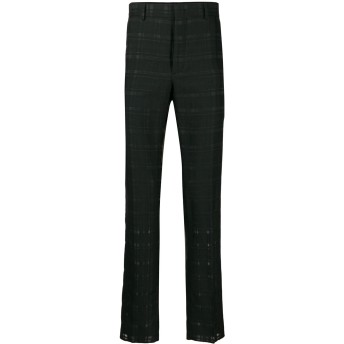 Fendi チェック パンツ - ブラック