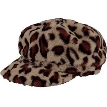 サンディエゴハット San Diego Hat Company レディース 帽子 Leopard Faux Fur Newsboy Cap CTH8165 Leopard