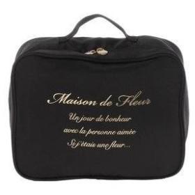 メゾンドフルール Maison de FLEUR トラベル収納Sケース (Black)