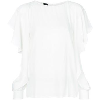 Pinko slit frill trim sleeves blouse - ホワイト