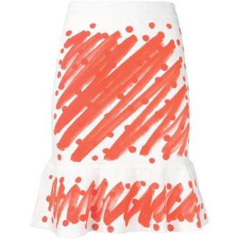 Moschino プリント スカート - ホワイト
