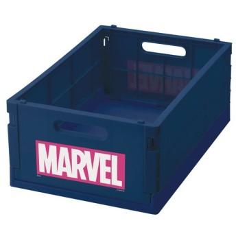 折りたたみコンテナ M MARVEL マーベル ロゴ コンテナ 収納ボックス ( 収納ケース 収納コンテナ 収納 コミック 折りたたみ コンパクト )