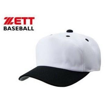 ZETT/ゼット BH158A-1119 フロントパネル型後メッシュキャップ 【56-59】 (ホワイト×ブラック)