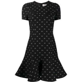 Valentino Go ロゴ ドレス - ブラック
