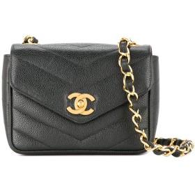 Chanel Pre-Owned CC キャビアスキン ショルダーバッグ - ブラック