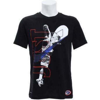 ナイキ(NIKE) DRI-FIT ジャストタンク Tシャツ BQ3556 011 ブラック/Rパープル L