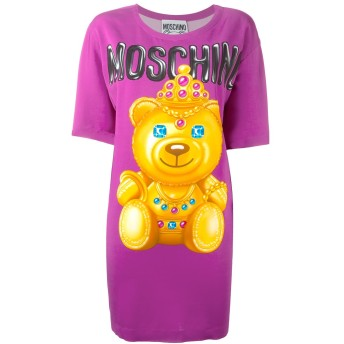 Moschino プリント Tシャツワンピース - ピンク