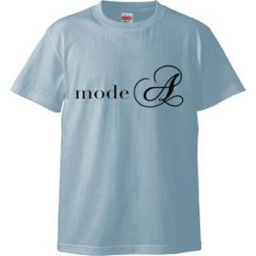 modeA ロゴTシャツ(カラー : ライトブルー, サイズ : L)