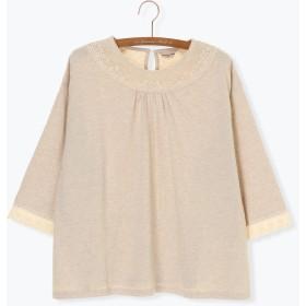 【6,000円(税込)以上のお買物で全国送料無料。】衿パーツレースカットソー