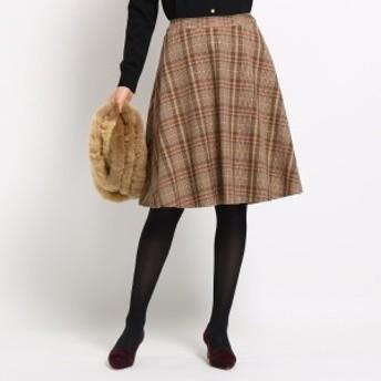 インディヴィ(INDIVI)/◆[S]【マシンウォッシュ】マルチタータンAラインスカート