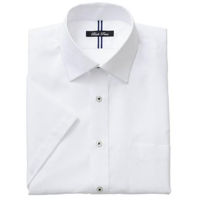 35%OFF【メンズ】 形態安定デザインYシャツ(半袖) - セシール ■カラー:ホワイト・ドビー ■サイズ:3L,5L