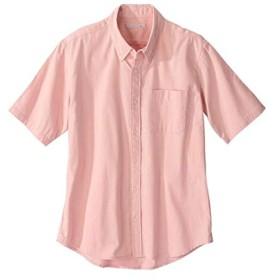 [nissen(ニッセン)] 綿100% オックスフォード カジュアル 半袖 シャツ 消臭テープ付 メンズ ピンク M