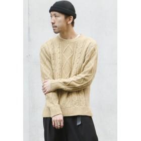 ニット・セーター - ikka アラン柄プルオーバー
