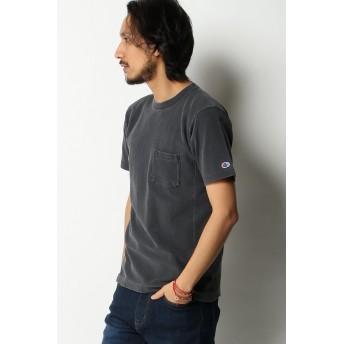 Tシャツ - ikka Champion チャンピオン リバースウィーブ黒インディゴポケT
