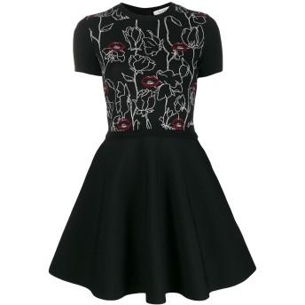 Valentino エンブロイダリー ショートドレス - ブラック