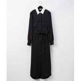 グレースコンチネンタル ロングシャツドレス レディース ブラック 38 【GRACE CONTINENTAL】