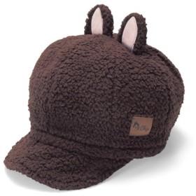帽子 ディズニー もこもこ耳付きキャスケット(選べるキャラクター) カラー 「チップ(ダークブラウン)」