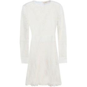 《期間限定セール開催中!》BA & SH レディース ミニワンピース&ドレス ホワイト 0 コットン 100%