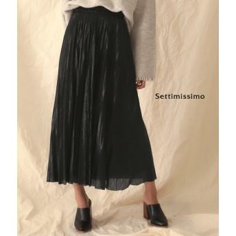 ANAP(アナップ)メタリックプリーツロングスカート