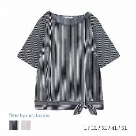 裾リボンカットソープルオーバー【LL~5L】