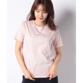 (Leilian PLUS HOUSE/レリアンプラスハウス)ロゴプリント半袖Tシャツ/レディース ピンク 送料無料