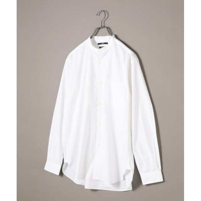 (SHIPS/シップス)SU: バンドカラー リラックスフィット シャツ/メンズ ライトホワイト
