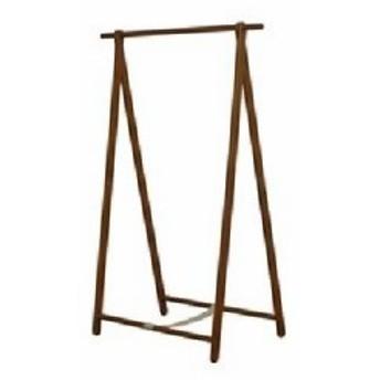 天然木 木製 シングルハンガーラック/コートハンガー 【ブラウン】 幅101cm 折りたたみ可 木目調 茶  送料無料