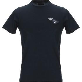 《9/20まで! 限定セール開催中》EMPORIO ARMANI メンズ T シャツ ダークブルー XXS コットン 100%