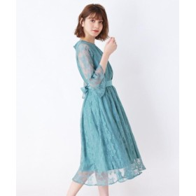 grove チュールレースロングドレス