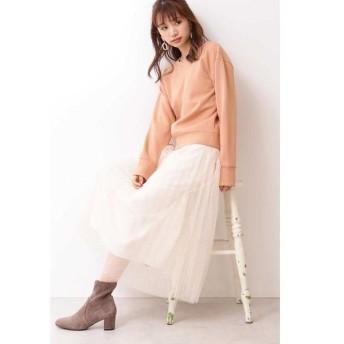 PROPORTION BODY DRESSING / プロポーションボディドレッシング ◆ドットチュールプリーツスカート