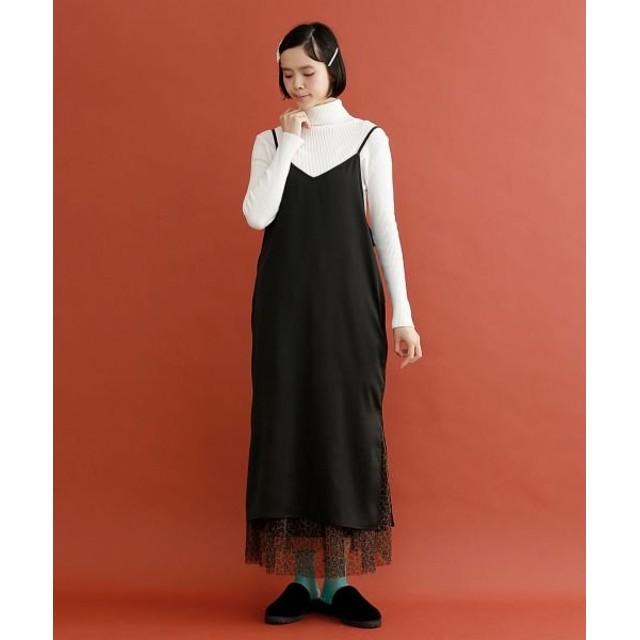 【20%OFF】 メルロー サイドスリットキャミワンピ レディース ブラック FREE 【merlot】 【セール開催中】
