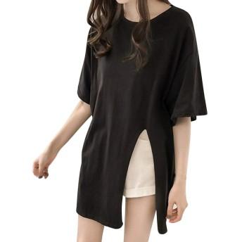 Kukiwa レディースtシャツ おおきいサイズ 半袖シャツ ブラウス トップス 無地 上着 おしゃれ ゆったり カジュアル ファッション かっこいい 夏服 レジャー