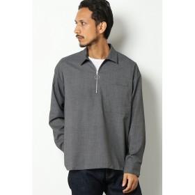 シャツ - ikka ハーフジップシャツ