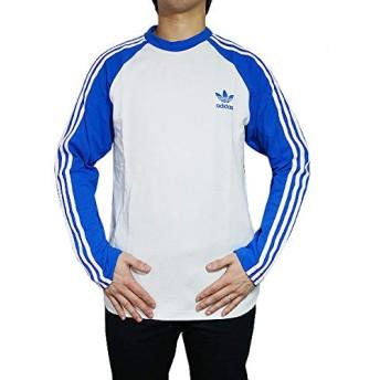 [アディダス オリジナルス] メンズ 長袖Tシャツ ホワイト ブラック Men's 3-Stripes cw1229 L WhiteBlue [並行輸入品]