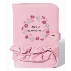 サマンサ モスモス ロゴ刺繍サテンフリルマルチポーチ レディース ピンク F 【Samansa Mos2】