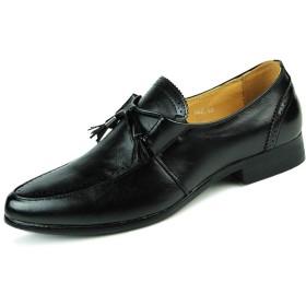 [LWSJP] メンズ 通気 靴 ビジネス 革 シューズ 快適 長持ち 抗菌 足痛くない 就活 通勤 普段用 紳士靴 (Color : ブラック, サイズ : 24 CM)