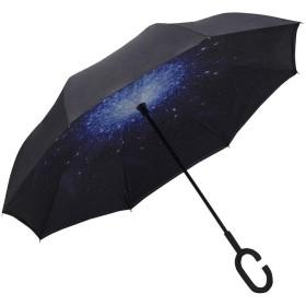 [ネルロッソ] 傘 折りたたみ 逆さま傘 超軽量 コンパクト アンブレラ 持ち手 カバー ジャンプ 袋 耐風 防水 大きい正規品 フリーサイズ c2 cka24478-Free-c2